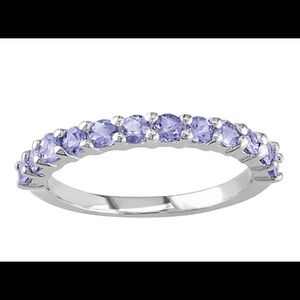Sterling Silver Tanzanite Stackable Band